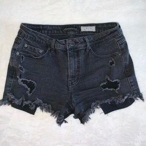 Black High Waisted Short Shorts